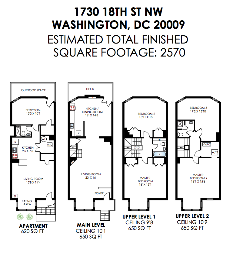 Row house floor plans washington dc escortsea for Washington house plans